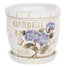 Горшок цветочный Dehua ceramic garden с поддоном d12