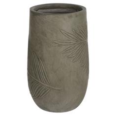 Горшок цветочный L&t pottery leaf антик зеленый d24h39