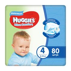Подгузники Huggies Ultra Comfort для мальчиков 4 (8-14 кг) 80 шт