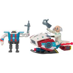 Игровой набор Playmobil Супер4: Скайджет с Доктором Х и робот