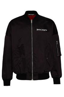 Куртка-бомбер с яркой подкладкой Palm Angels