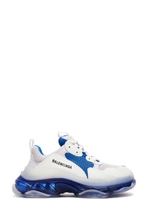 Сине-серо-белые кроссовки Triple S Clear Sole Balenciaga