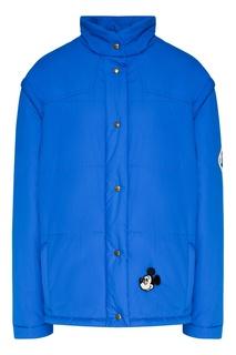 Синяя куртка-трансформер Gucci