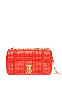 Красная сумка с фактурной отделкой Burberry
