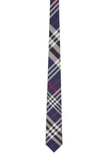 Синий галстук в клетку Burberry