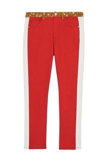 Узкие джинсы с принтованным поясом Burberry