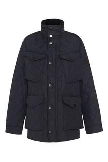 Темно-синяя стеганая куртка с карманами Burberry