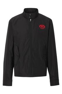 Черная куртка с вышитым логотипом Burberry
