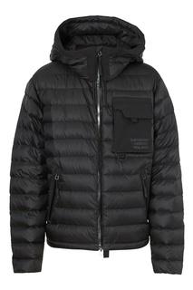 Черная стеганая куртка с капюшоном Burberry