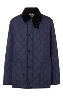 Темно-синяя стеганая куртка Burberry