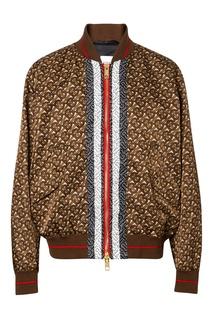 Куртка-бомбер коричневого цвета Burberry