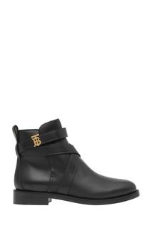 Черные ботинки с монограммой Burberry