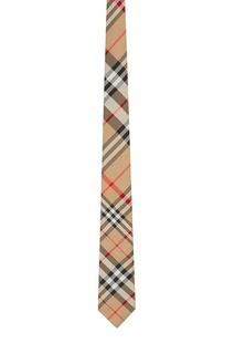 Бежевый галстук в клетку Burberry