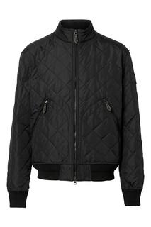 Черная стеганная куртка с терморегуляцией Burberry