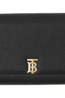 Черный бумажник с цепочкой Burberry