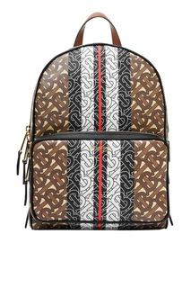 Коричневый рюкзак с монограммами Burberry