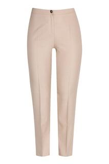 Бежевые укороченные брюки со стрелками Marina Rinaldi