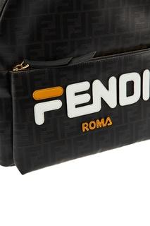 Черный рюкзак с монограммами FF Fendi