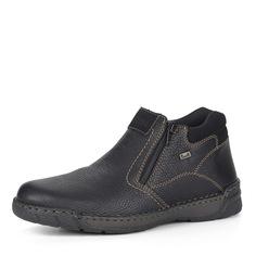 Ботинки Черные ботинки без шнуровки Rieker