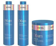 Estel, Otium Aqua Набор для волос увлажняющий Эстель (шампунь, бальзам, маска), 1000/1000/300 мл