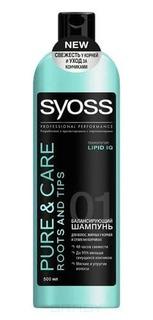 Syoss, Шампунь для жирных у корней и сухих на кончиках волос Pure&Care, 500 мл