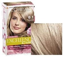 LOreal, Краска для волос Excellence Creme (32 оттенка), 270 мл 8.1 Светлый русый пепельный L'Oreal