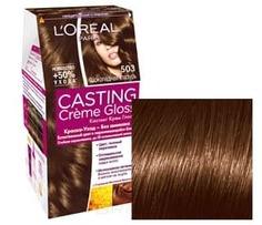 LOreal, Краска для волос Casting Creme Gloss (37 оттенков), 254 мл 503 Шоколадное золото LOreal