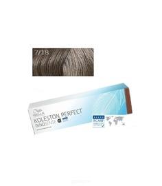 Wella, Стойкая крем-краска для волос Koleston Perfect Innosense, 60 мл 7/18 блонд пепельно-жемчужный