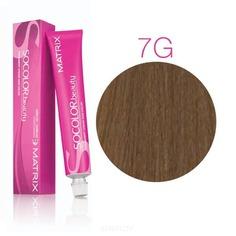 Matrix, Крем краска для волос SoColor.Beauty профессиональная, 90 мл (палитра 133 цветов) SOCOLOR.beauty 7G блондин золотистый
