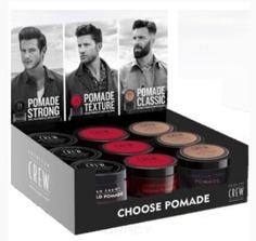 American Crew, Набор из 9 помад для укладки волос Выберите свой стайлинг Choose Pomade Display, 85г*9