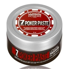 LOreal Professionnel, Моделирующая паста для волос мужская экстремальной фиксации Homme Poker Paste, 75 мл