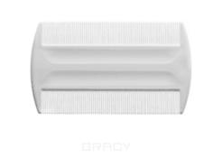 EuroStil, Расчёска-гребень из пластмассы белого цвета с частыми зубцами 00443