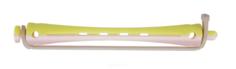 Dewal, Бигуди для холодной завивки с силиконовой круглой резинкой розово-желтые, 12 шт (2 вида), 12 шт, 95 мм, Д7 мм