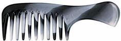Titania, Гребень с ручкой 14,5 см серо/белый