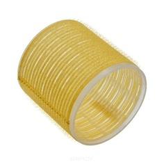 Sibel, Бигуди на липучке 66 мм желтые, 6 шт./уп.