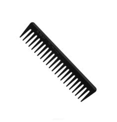 EuroStil, Расчёска-гребень из пластмассы чёрного цвета с редкими зубцами 00455