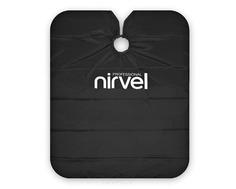 Nirvel, Пеньюар многоразовый для стрижки черный «Эко»
