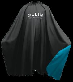 OLLIN Professional, Пеньюар для окрашивания на крючках чёрный 160х145 см, 396956