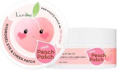 LArvore, Гидрогелевые патчи для глаз Hydrogel Eye & Cheek Petit Peach Patch, 60 шт L'arvore