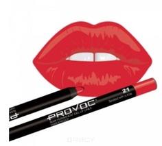 Provoc, Гелевая подводка в карандаше для губ Gel Lip Liner (12 тонов) 021 Sealed with a Kiss (класcический красный)