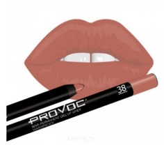 Provoc, Гелевая подводка в карандаше для губ Gel Lip Liner (12 тонов) 038 Barely There (цв. карамельный)