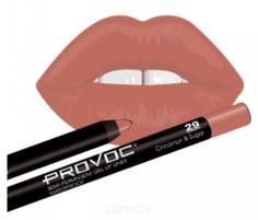 Provoc, Гелевая подводка в карандаше для губ Gel Lip Liner (12 тонов) 029 Cinnamon&Sugar (цв. беж-розовый)