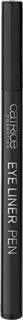 Catrice, Подводка для глаз Eye Liner Pen Black, тон 010, черная