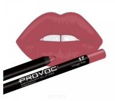 Provoc, Гелевая подводка в карандаше для губ Gel Lip Liner (12 тонов) 017 Vintage Rose (цв.коричнево-малиновый)