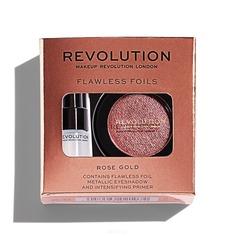 MakeUp Revolution, Набор тени и праймер Flawless Foils, 2 гр + 2 мл (7 вариантов) Rose Gold