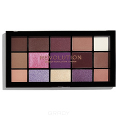 MakeUp Revolution, Палетка теней для век Re-loaded Palette, 15 оттенков (6 вариантов) Visionary