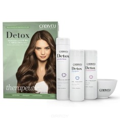 Cadiveu Professional, Detox Proteina Набор для волос с миской Кадевью Детокс Home Care, 250/250/320 мл