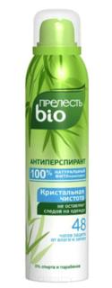 Прелесть Professional, Дезодорант спрей BIO Кристальная чистота без белых следов, 160 мл