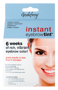 Godefroy, Хна краска для бровей в капсулах Eyebrow Tint Natural, набор 4 капсулы (5 цветов), 1 набор, Light Brown (светло-коричневый)