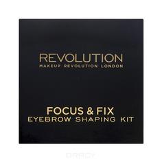 MakeUp Revolution, Набор для бровей Focus & Fix Brow Kit